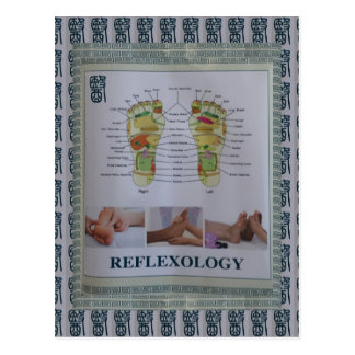 REFLEXOLOGY Full Body Poster Body Spirit n Mind Postcard