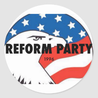 Reform Party Eagle 2 Classic Round Sticker