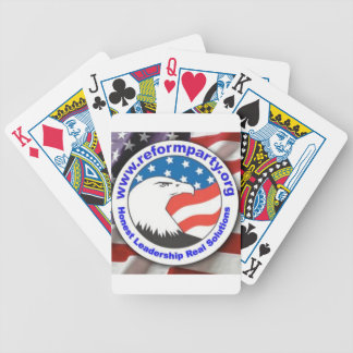 Reform Party Eagle 3 Bicycle Playing Cards