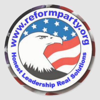 Reform Party Eagle 3 Classic Round Sticker