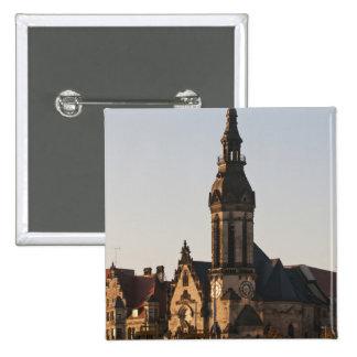 Reformed Church Leipzig, Germany 15 Cm Square Badge