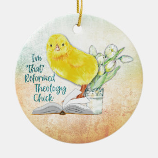 """Reformed Theology Chick"" Christmas Ornament"