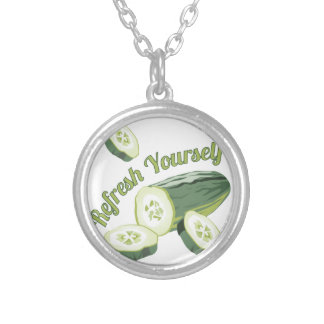 Refresh Yourself Round Pendant Necklace