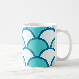Refreshing Blue Water Wave Pattern Coffee Mug
