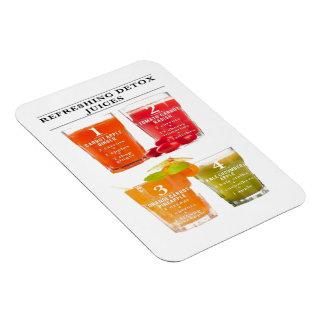 Refreshing Detox Juices Magnet