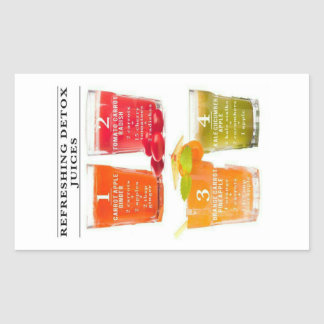Refreshing Detox Juices Rectangular Sticker
