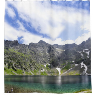 Refreshing Mountain Lake Shower Curtain
