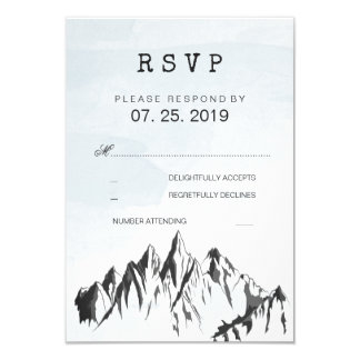 Refreshing Mountain Woodland Forest Wedding RSVP Card
