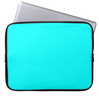 Refreshing Neon Blue Turquoise Solid Bright Colour Laptop Sleeve