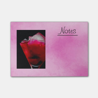 Refreshing Red and Pink Cocktail Post-it® Notes