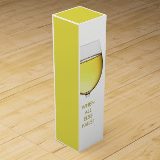 Refreshing White Wine with customisable text Wine Gift Box