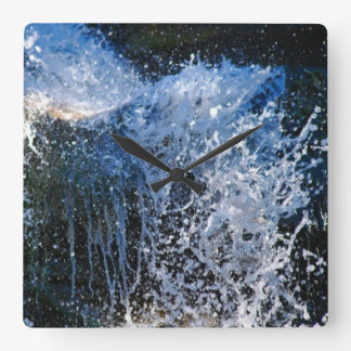 Refreshingly different waterfall square wall clock