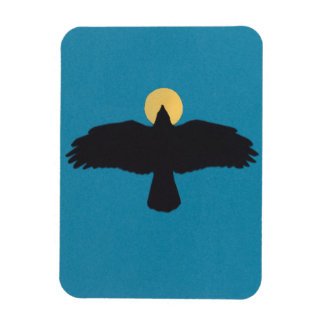 refrigerator magnet flying crow icon