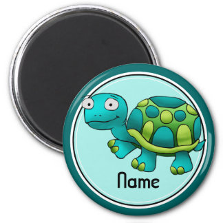 Refrigerator Magnet, Name Template, Cute Turtle Magnet