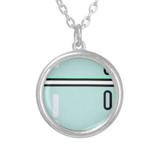 Refrigerator Silver Plated Necklace