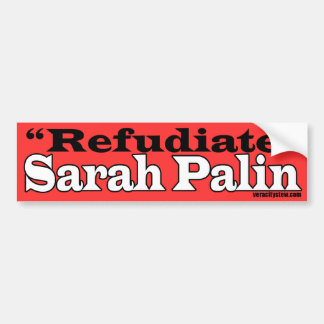 Refudiate Bumper Sticker