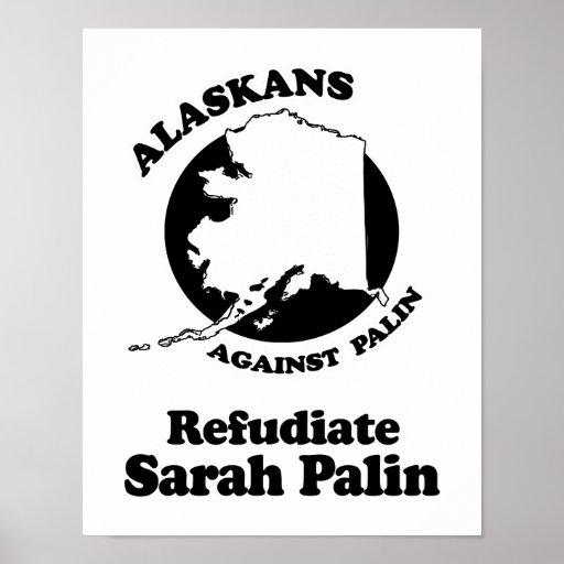REFUDIATE SARAH PALIN POSTER
