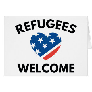 Refugees Welcome Card