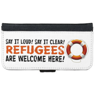 Refugees Welcome iPhone & Samsung Wallet Case