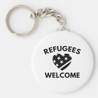 Refugees Welcome Key Ring