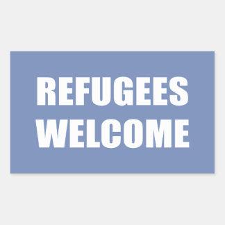 Refugees Welcome Rectangular Sticker