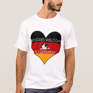 refugees welcome ton of Germany T-Shirt