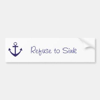 Refuse to Sink Bumper Logo Bumper Sticker