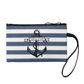 Refuse To Sink - Stripes Coin Purses