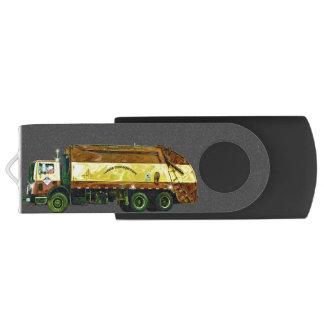Refuse Waste Disposal Garbage Truck Swivel USB 2.0 Flash Drive