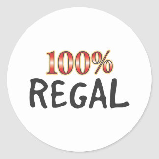 Regal 100 Percent Classic Round Sticker
