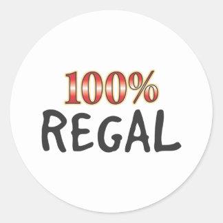 Regal 100 Percent Round Sticker