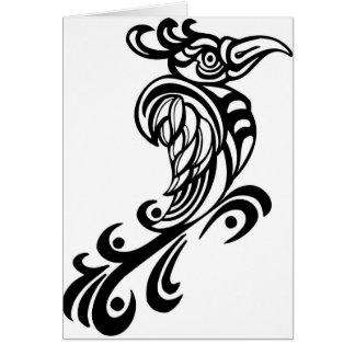 Regal Bird Design Card