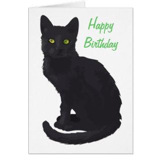 Regal Black Cat Birthday Card