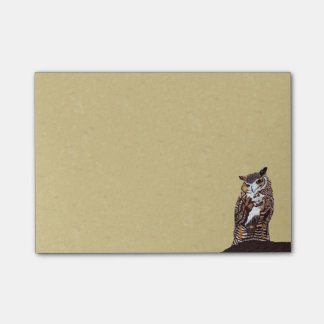 Regal Brown Owl Tree Stump Post-it Notes