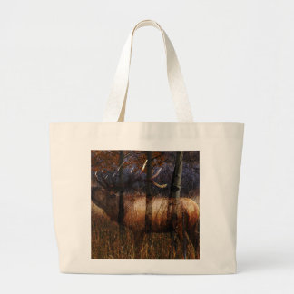 Regal Elk Large Tote Bag