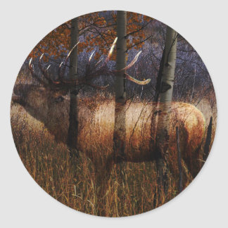 Regal Elk Round Sticker