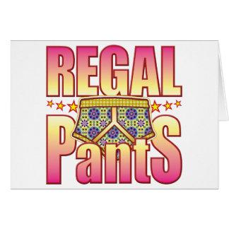 Regal Flowery Pants Card