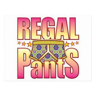 Regal Flowery Pants Post Card