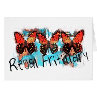 regal fritillary greeting card