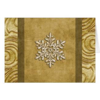 Regal Gold Snowflake Holiday Card