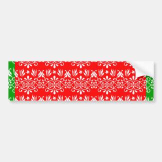 Regal Layered Green & Red Bumper Sticker