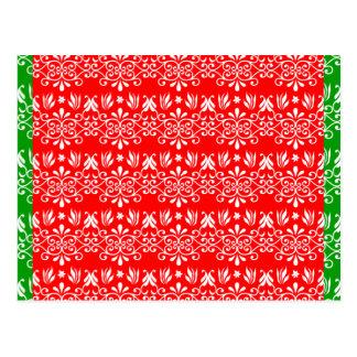 Regal Layered Green & Red Postcard