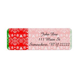 Regal Layered Green & Red Return Address Label