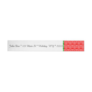Regal Layered Green & Red Wraparound Address Label