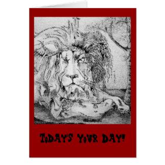 Regal Lion Birthday Card