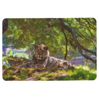 REGAL LION FLOOR MAT