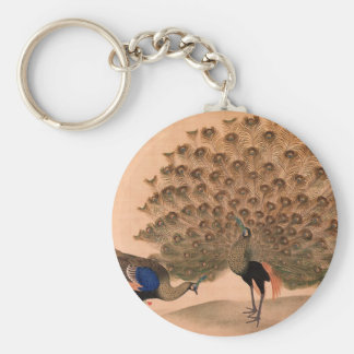 Regal Peacocks Key Ring