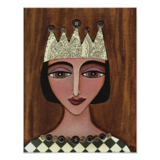 Regal Queen Anna Maria - print