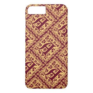 Regal Red and Gold Renaissance Monogram A iPhone 7 Plus Case