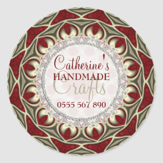 Regal Red Gold Handmade Crafts Product Sticker